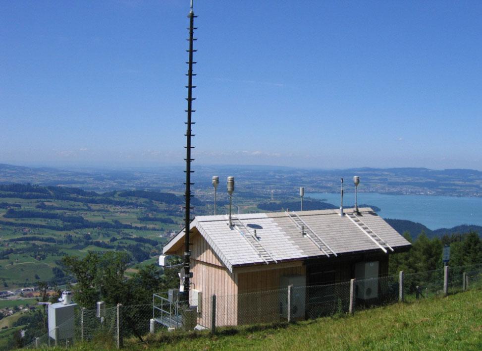 Messstation Rigi (Blick auf den Zugersee)